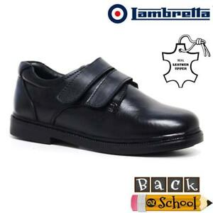 Boys-Leather-School-Shoes-New-Kids-Smart-Dress-Formal-Back-To-School-Shoes-Size