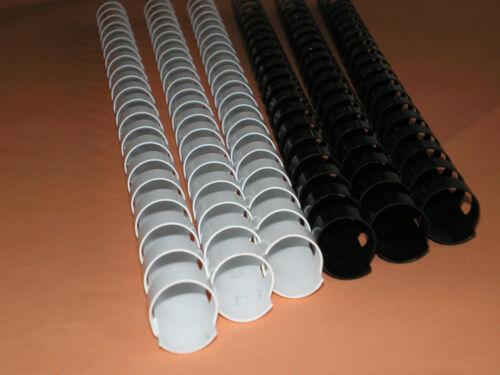 10x Binderücken 8mm 21 Ringe schwarz Spiralbindung Bindespirale NEU