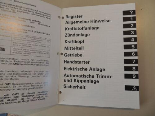 1997 Werkstatthandbuch Johnson Evinrude Außenborder 40 45 50 55 PS 2-Zyl.