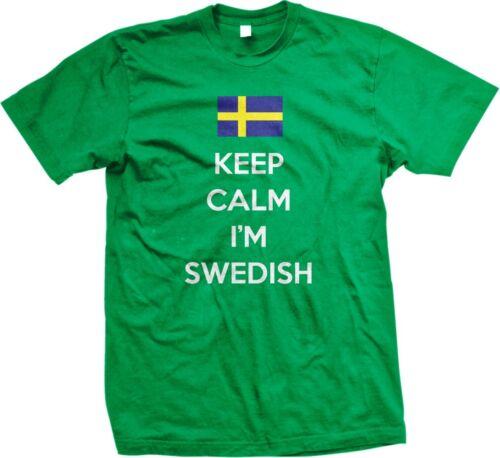 Keep Calm Im Swedish Svenska Pride Sverige Scandinavian Nordic Mens T-shirt