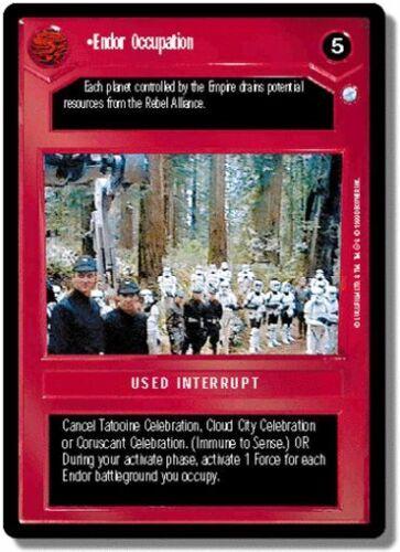 Star Wars CCG Endor DS Rare Endor Occupation