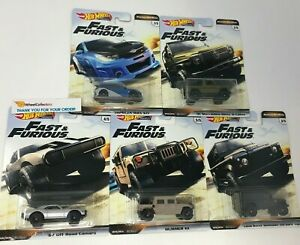 5-Car-Set-2019-Hot-Wheels-Fast-amp-Furious-OFF-ROAD-Case-D