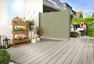 Seitenmarkise Sichtschutz Sonnenschutz Windschutz BEIGE 160 x 300 cm