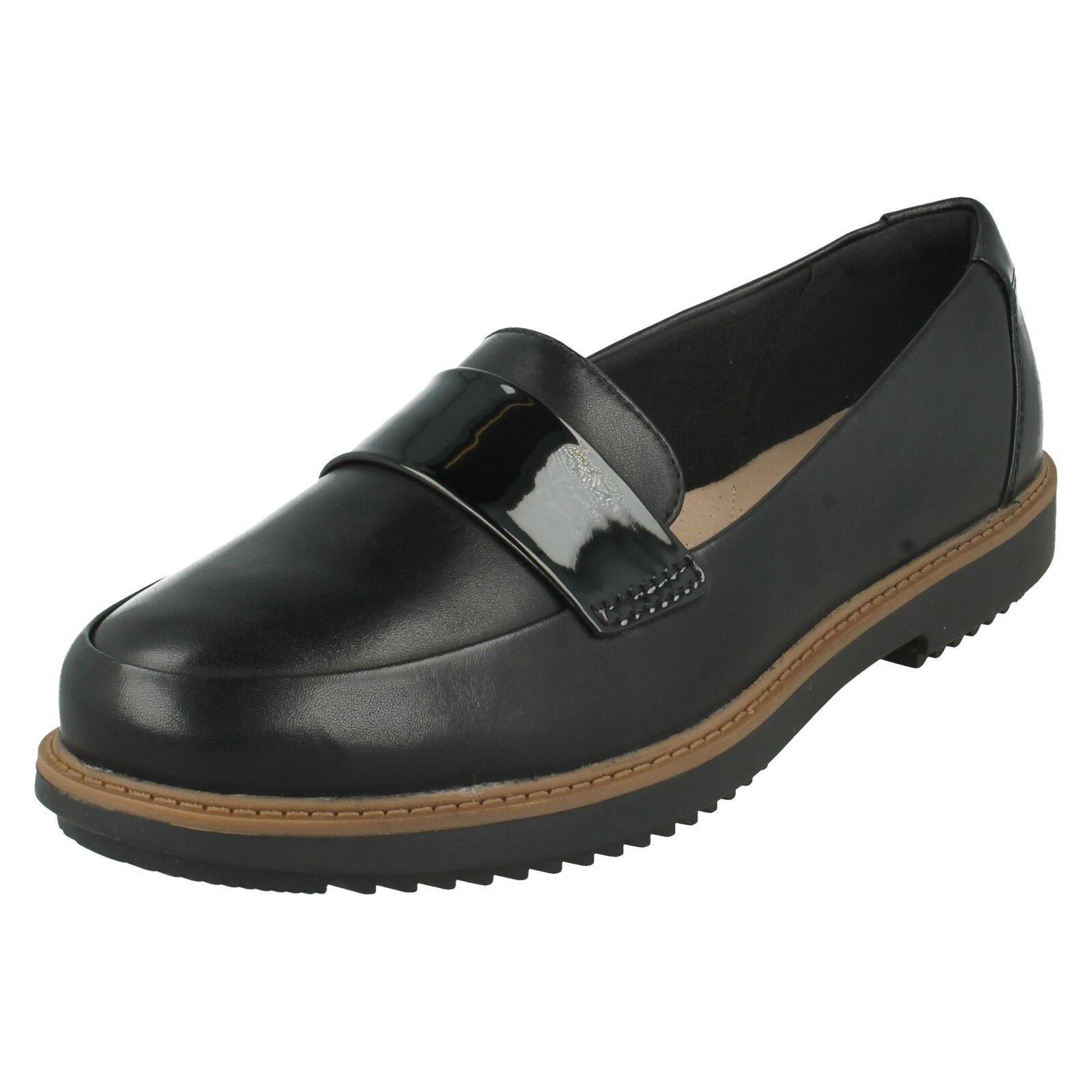 LADIES CLARKS SLIP ON SMART FORMAL FLAT LEATHER ARLIE LOAFERS PUMPS Schuhe RAISIE ARLIE LEATHER bc0bcc