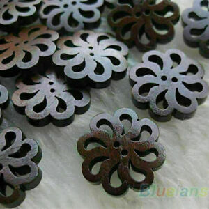 40PC-Helpful-Flower-Cute-Wood-Buttons-20MM-Sewing-Useful-Craft-Arrival-Gif-E6N9