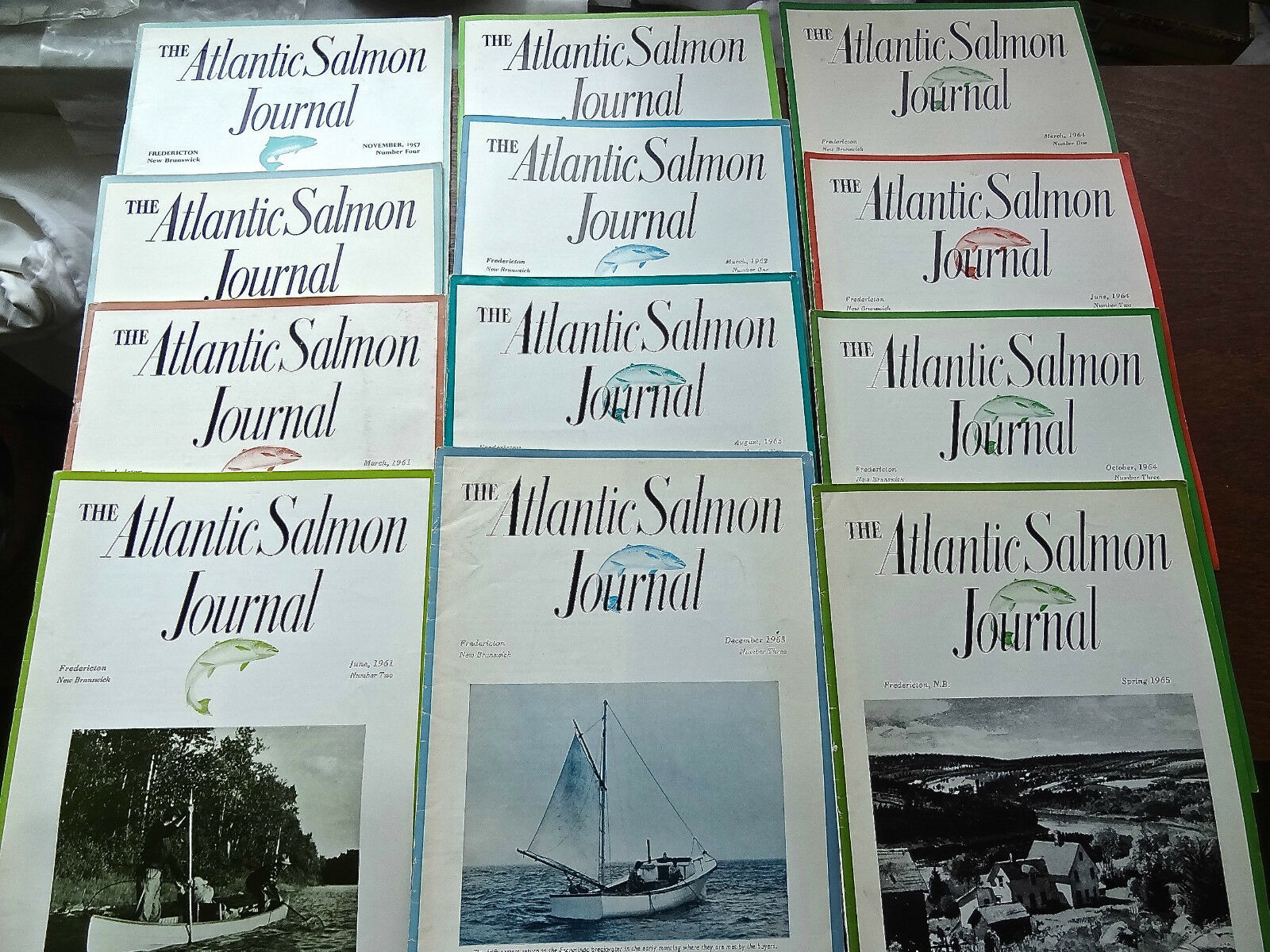 Atlantic Salmon Journal RARE 50's-60's collection lot of 26 Lee Wulf ed. RARE