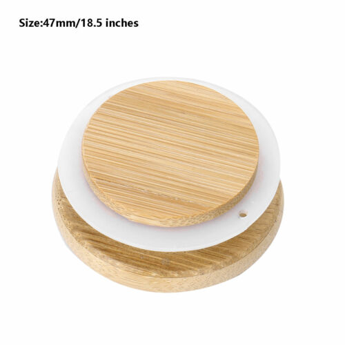 Light Bamboo Caps Lids Marson Jar Lids Cover Silicone Seal for Glass Food Caning