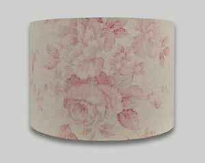 Red Beige Faded Rose Floral Drum Lampshade Table Lamp Shade Ceiling
