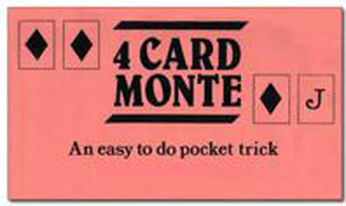 4 Card Monte. Four Card Monte Magic Trick Close up Magic Illusion