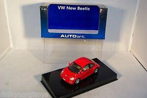 AUTOART-AUTO-ART-59733-VW-VOLKSWAGEN-NEW-BEETLE-RED-MIB-RARE-SELTEN