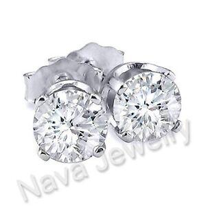 Image Is Loading 1 06 Ct Round Brilliant Cut Diamond Stud