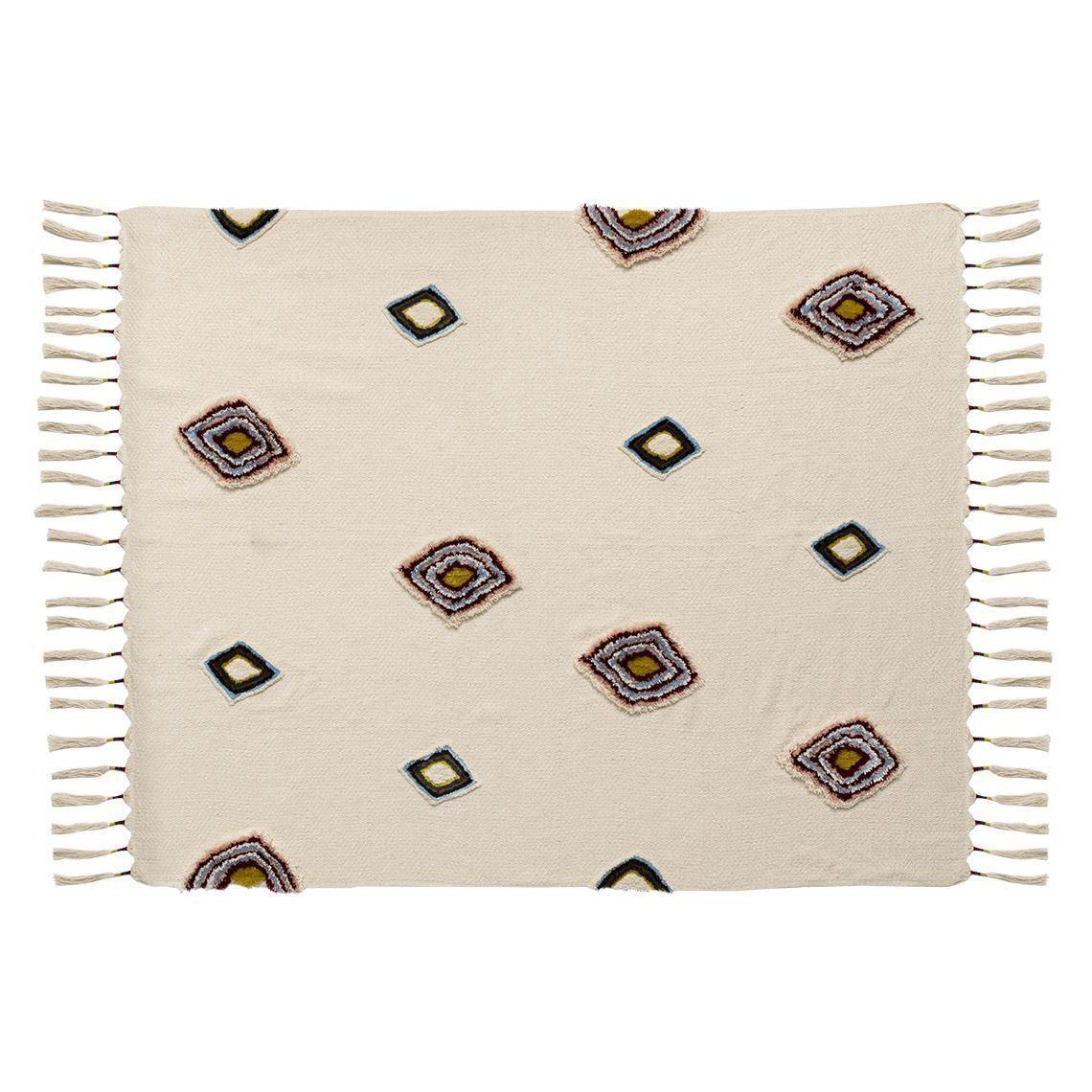 Nueva Libertad Kakuma Algodón Mezcla Cobertor De Color Multi Manta Alfombra 130cm X 150cm