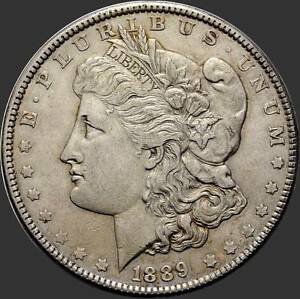 USA-1-Dollar-De-Morgan-1889-Philadelphia-Piece-d-039-argent-900-1000-d-039-occasion-7