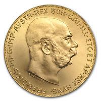Austrian 100 Corona Gold Coin Random Year Brilliant Uncirculated