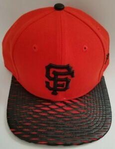 Men s San Francisco Giants New Era MLB Orange Black Leather Rip ... e85ee0293d43