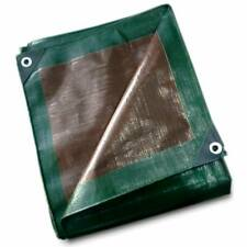 12 Mil Heavy Duty Tarp Green Brown Reversible Tarpaulin Waterproof UV Cover