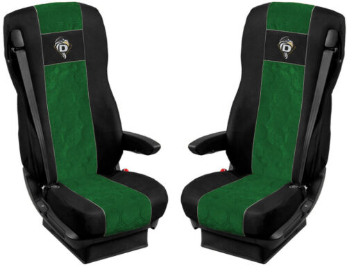 105 Seat Cover Fabric Velour  FOR Truck DAF XF 95 106-2 SEAT BELTS Green