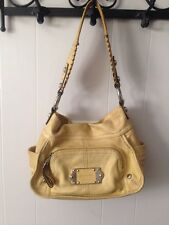 B MAKOWSKY Super Soft Light Yellow Glove Leather Bag