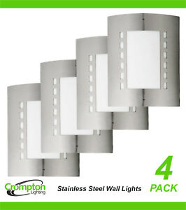 Details About 4 X 316 Stainless Steel Bunker Wall Lights Rectangular Diffused Outdoor Exterior