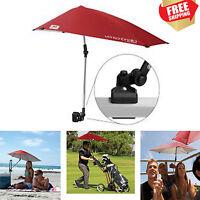 Universal Clamp On Umbrella Beach Chair Stroller Shade Sun Block Canopy Camping
