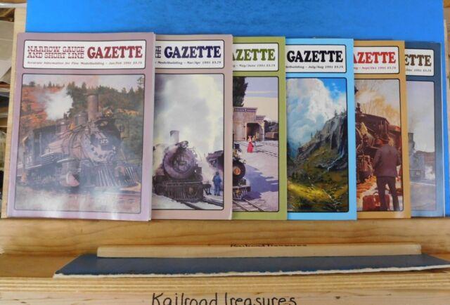Narrow Gauge & Short Line Gazette Complete Year 1991 6