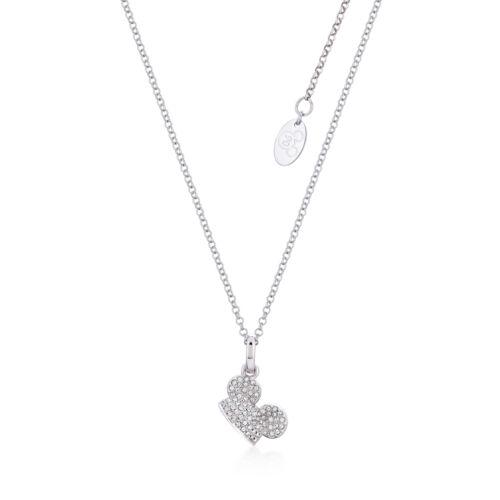 Disney Couture Reino Mickey Mouse 90 años wgold-Plateado Collar de cristal claro