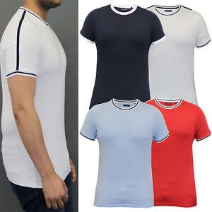 mens-t-shirt-Brave-Soul-retro-short-sleeved-top-crew-neck-football-cotton-summer