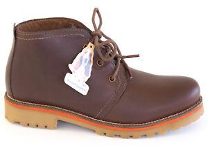 Hush-Puppies-Schnuer-Boots-37-38-39-40-LEDER-Dunkel-Braun-Stiefelette-Outdoor-NEU