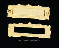 Brass Letterbox Style 2, Doll House Miniature Diy Fixture & Fittings Door