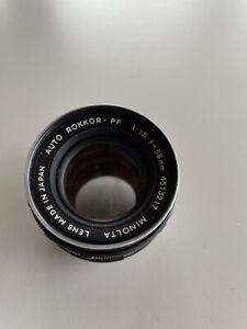 Minolta Auto Rokkor-PF 1:1.8 55mm Lens *As Is* Lens for Parts