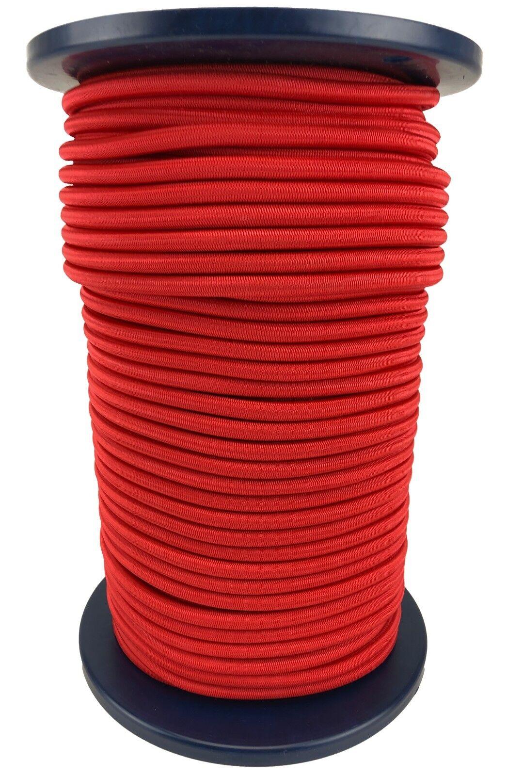 12mm Elastisch Gummiseil ,Gummizug Seil, Unten, Rot, Stabil, Heavy Duty
