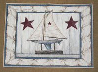 Wave Reviews Sailing Nautical Tapestry Placemat