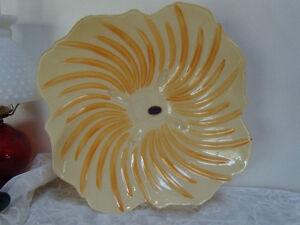 """Smart Murano Glass Arte Lavorazione Lg Italian 14 3/4"""" Dish Amazing Design Beautiful Color Pottery & Glass"""
