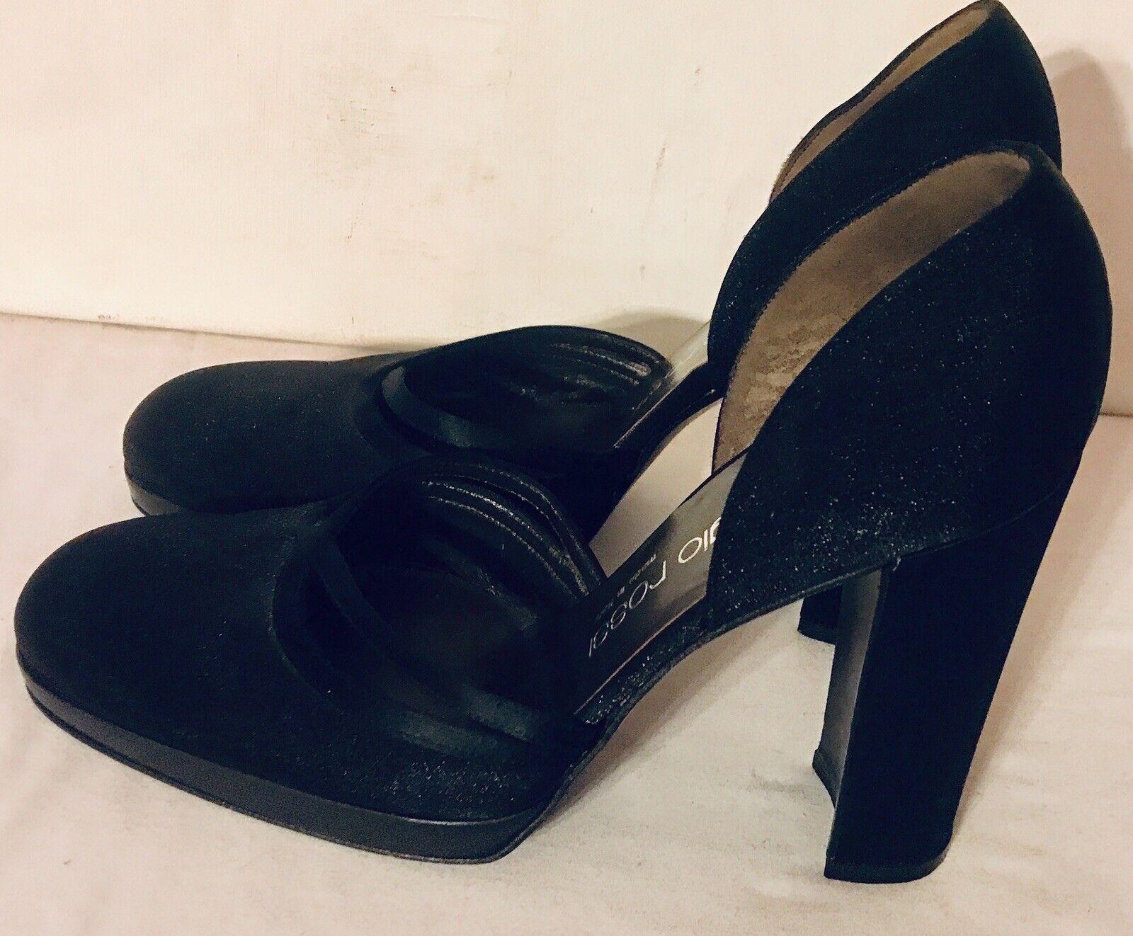 outlet online Sergio Rossi donna's nero nero nero Leather Block Heels D'Orsays Dimensione 7M 38 EUC  acquisto limitato