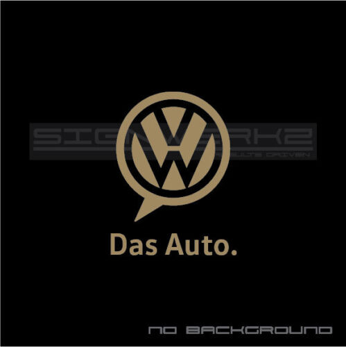 VW Das Auto Decal Sticker Euro Racing Circuit Track gt 2.0 R 4 motion GTI t Pair