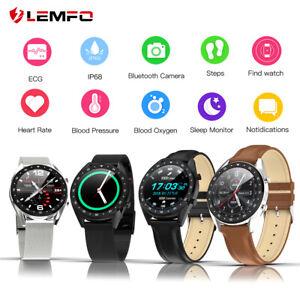 Lemfo-L7-ECG-Reloj-inteligente-Presion-sanguinea-IP68-Bluetooth-Android-iPhone