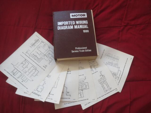 1990 Mazda Rx7 Wiring Diagrams Schematics Set Ebay