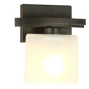 Hampton-Bay-Ettrick-1-Light-Oil-Rubbed-Bronze-Sconce-w-Hand-Pained-Glass-Shade
