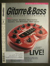 GITARRE & BASS 1999 # 2 - BLACK SABBATH METALLICA STEVE SWALLOW ERIC CLAPTON