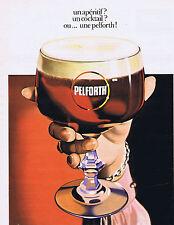PUBLICITE ADVERTISING 084 1974 PELFORTH un apéritif un cocktail !!!