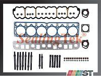 99-06 Jeep 4.0l Ohv L6 Engine Mls Cylinder Head Gasket Set + Bolts Kit Amc Motor