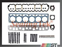 99-06 Jeep 4.0l Ohv L6 Engine Mls Cylinder Head Gasket Set + Bolts Kit Amc Motor