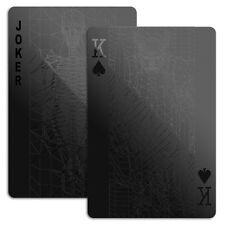 Mollaspace Black Deck Playing Cards Set Poker Bridge Gift Modern Minimal Design