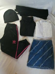 Lot-de-6-vetements-8-ans-fille-pantalon-survetement-Adidas-noir-et-rose-fuchsia