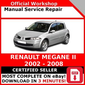 # FACTORY WORKSHOP SERVICE REPAIR MANUAL RENAULT MEGANE II 2002-2008