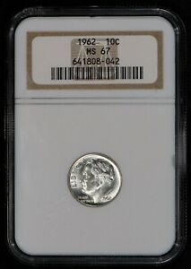 1962-10c-SILVER-ROOSEVELT-DIME-HIGH-GRADE-COIN-NGC-MS-67-LOT-V563