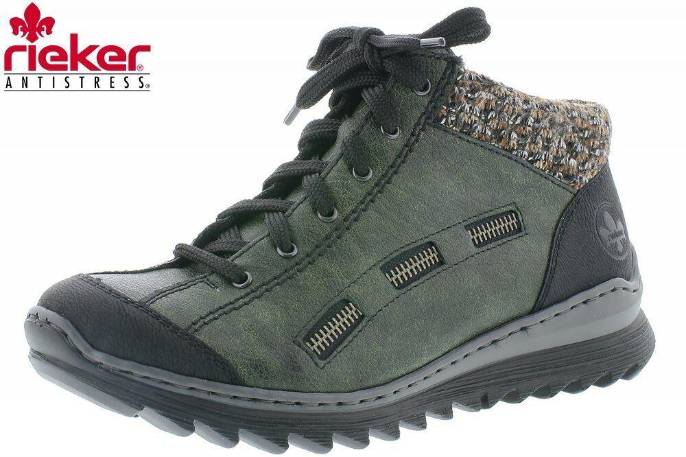 Damen Rieker Knöchelschuh Stiefel M6223 00 Schuhe Grün