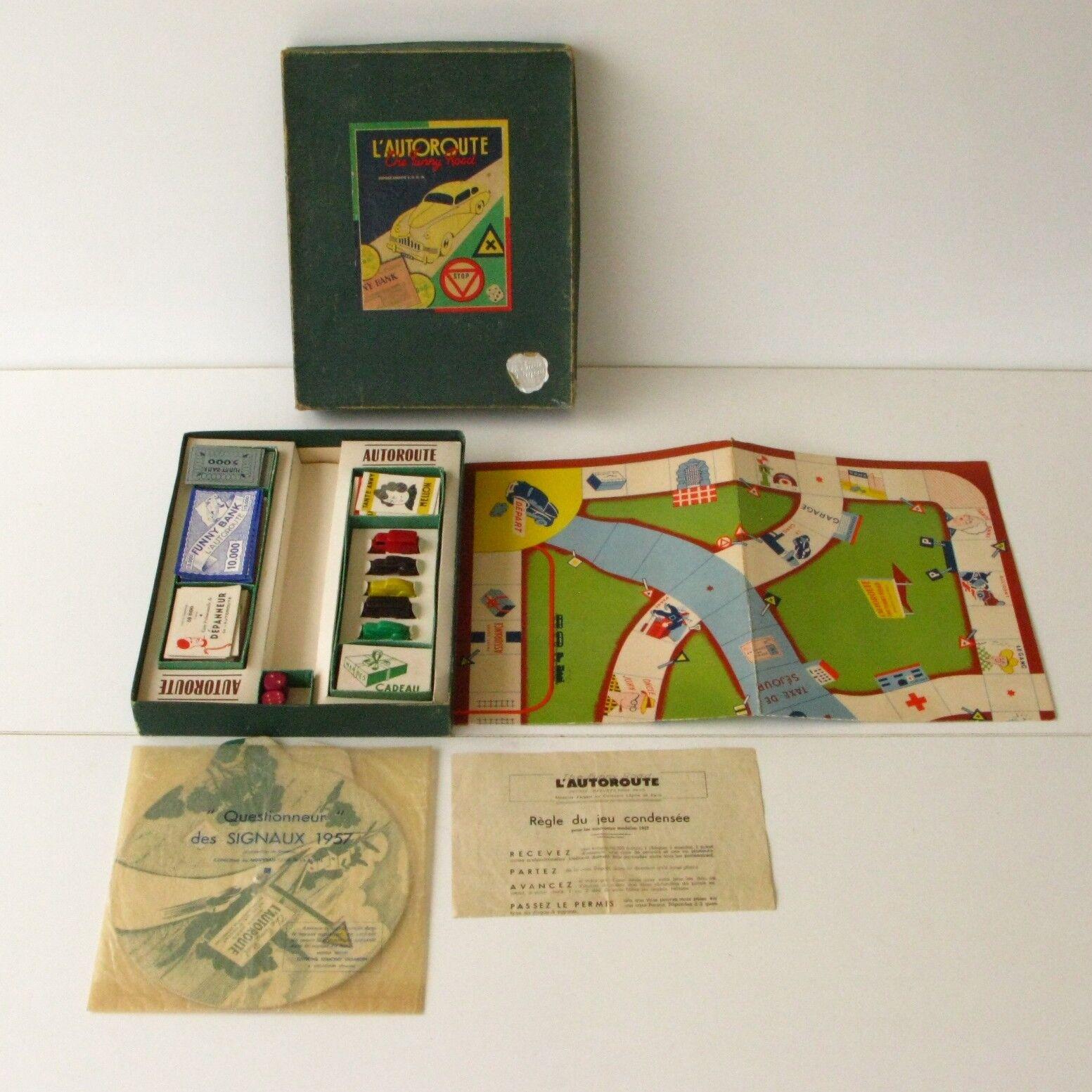 Ancien jeu de Société - The Funny Road l'AUTgoldUTE - Dujardin 1957 - Complet
