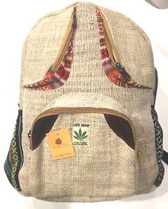 "RuckSack Pure HEMP GANESH Design 18/""H 12/""W THC FREE Quality Backpack"