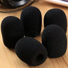 5Pcs Stage Microphone Windscreen Soft Windshield Foam Sponge Mic Cover Black New